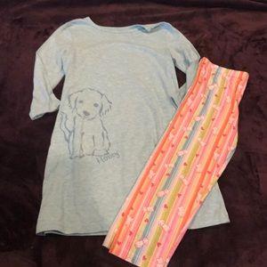 American Girl pajama set, size 7/8
